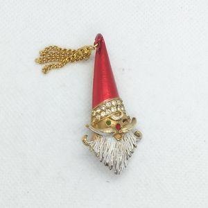 MYLU Santa Claus Brooch Christmas, Tassel Hat